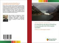 Capa do livro de A relevância da ética-filosófica e a produção de Informação contábil