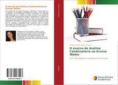 Capa do livro de O ensino de Análise Combinatória no Ensino Médio