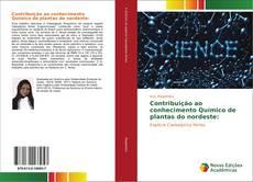 Capa do livro de Contribuição ao conhecimento Químico de plantas do nordeste: