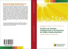Copertina di Análise da Gestão Institucional e da Atuação de ONGs Ambientalistas