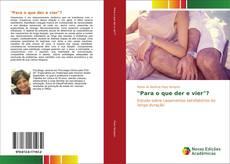 "Capa do livro de ""Para o que der e vier""?"