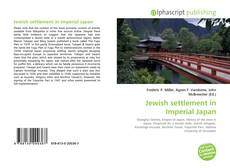 Portada del libro de Jewish settlement in Imperial Japan