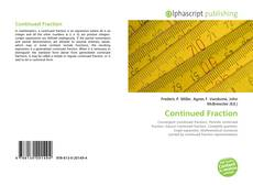 Bookcover of Continued Fraction