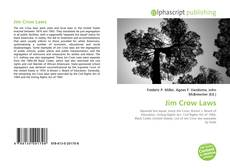 Bookcover of Jim Crow Laws