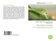 Ecosystem ecology kitap kapağı