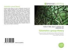 Geometric group theory的封面