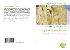 Bookcover of Operation Badr (1973)