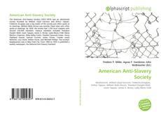 Bookcover of American Anti-Slavery Society