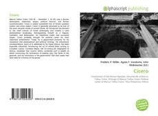 Bookcover of Cicero
