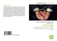 Portada del libro de Criminology
