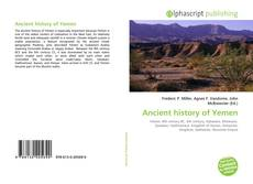 Bookcover of Ancient history of Yemen