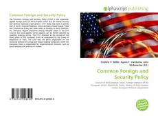 Bookcover of Common Foreign and Security Policy