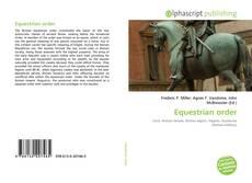Couverture de Equestrian order