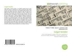 Legal tender kitap kapağı