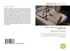 Bookcover of Balance Sheet