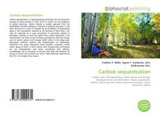 Buchcover von Carbon sequestration