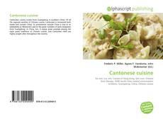 Bookcover of Cantonese cuisine