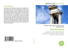 Bookcover of Late Antiquity
