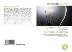 Bookcover of Electricity Generation