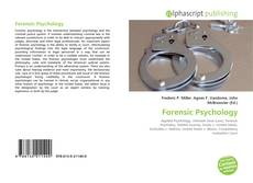 Bookcover of Forensic Psychology