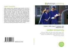 Buchcover von Leiden University
