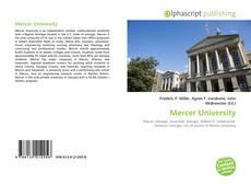 Bookcover of Mercer University