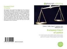 Bookcover of European Court of Justice