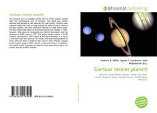 Capa do livro de Centaur (minor planet)
