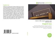 Bookcover of English law
