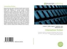 Interactive fiction的封面