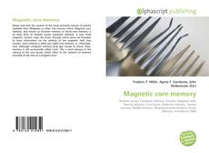 Bookcover of Magnetic core memory