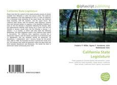 Bookcover of California State Legislature