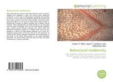 Bookcover of Behavioral modernity