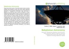 Bookcover of Babylonian Astronomy
