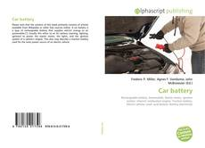 Bookcover of Car battery