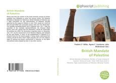 Bookcover of British Mandate of Palestine