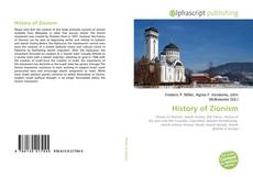 Bookcover of History of Zionism
