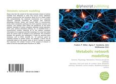 Bookcover of Metabolic network modelling