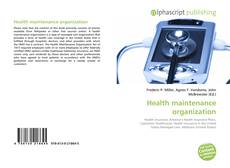 Capa do livro de Health maintenance organization