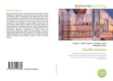Bookcover of Health science