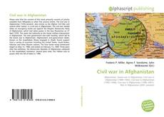 Bookcover of Civil war in Afghanistan
