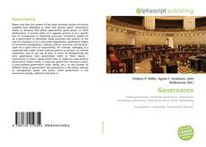 Bookcover of Governance