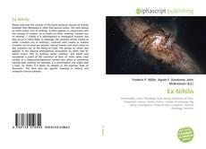Capa do livro de Ex Nihilo