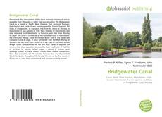 Bookcover of Bridgewater Canal