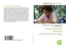 Bookcover of African American Literature