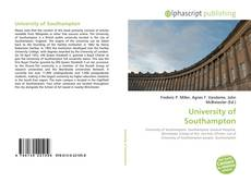 Bookcover of University of Southampton