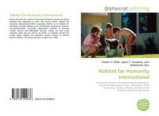 Bookcover of Habitat for Humanity International