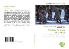 Couverture de Military funding of science