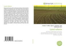 Bookcover of Land reform