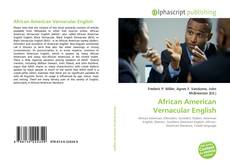 Bookcover of African American Vernacular English